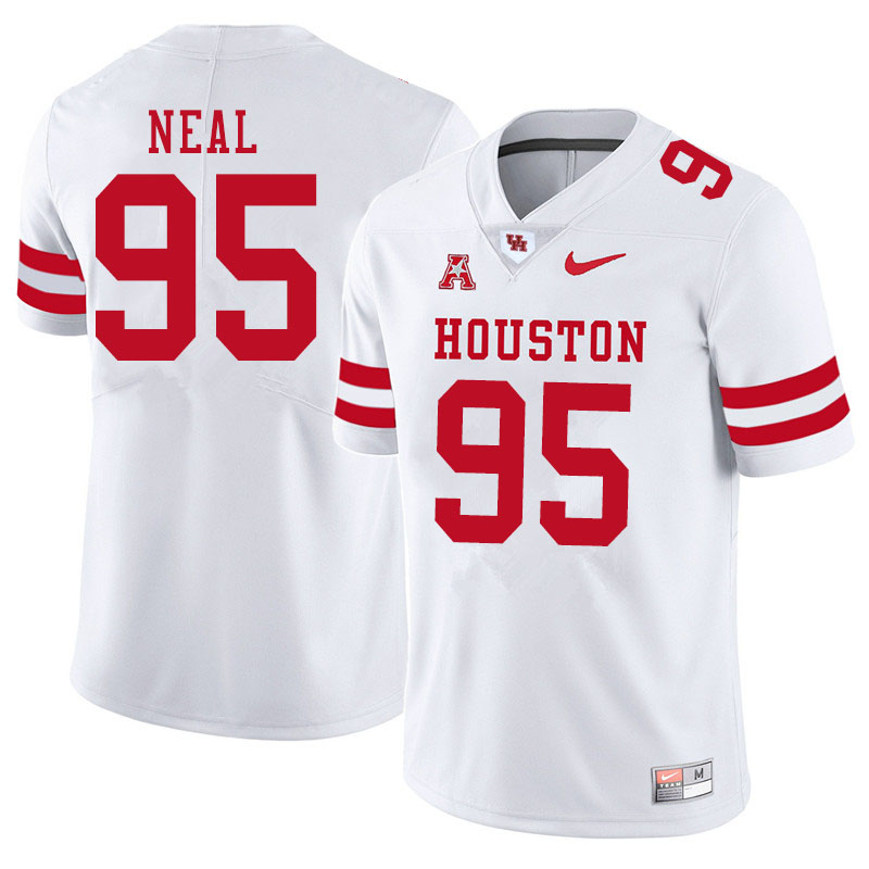 Men #95 Jamykal Neal Houston Cougars College Football Jerseys Sale-White