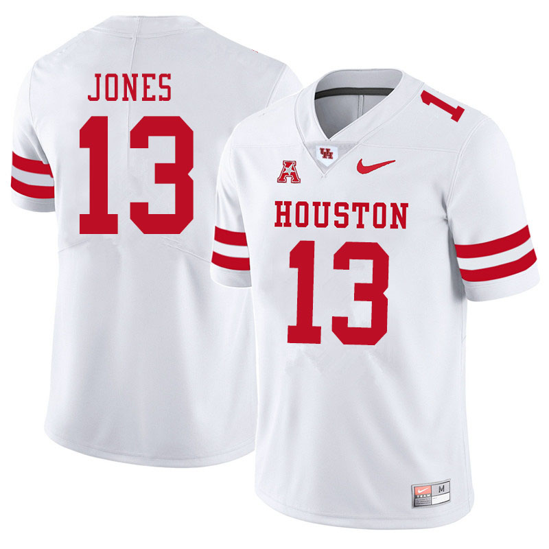 Men #13 Marcus Jones Houston Cougars College Football Jerseys Sale-White