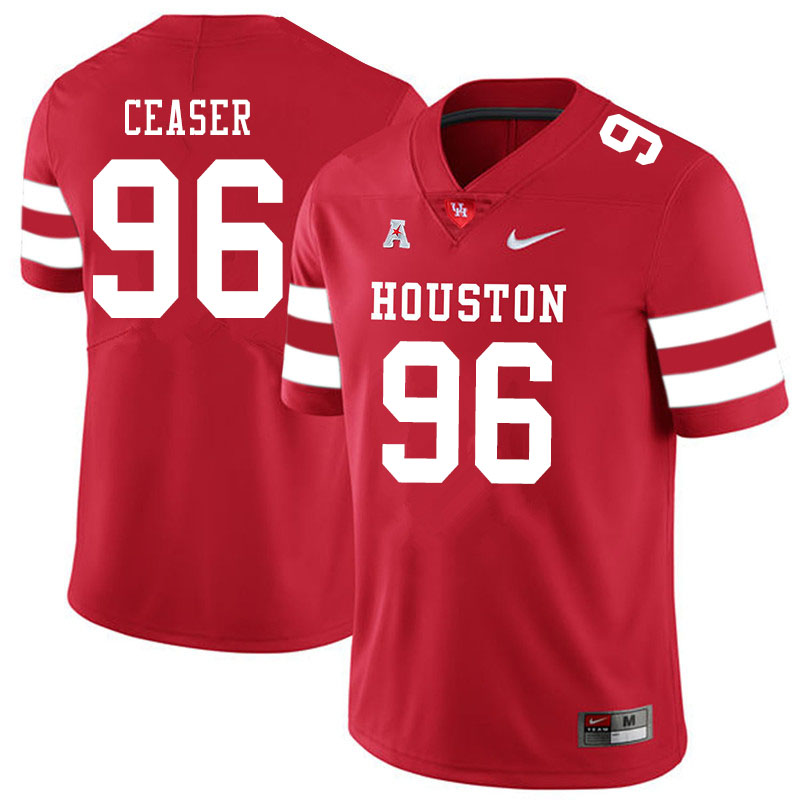 Men #96 Nelson Ceaser Houston Cougars College Football Jerseys Sale-Red