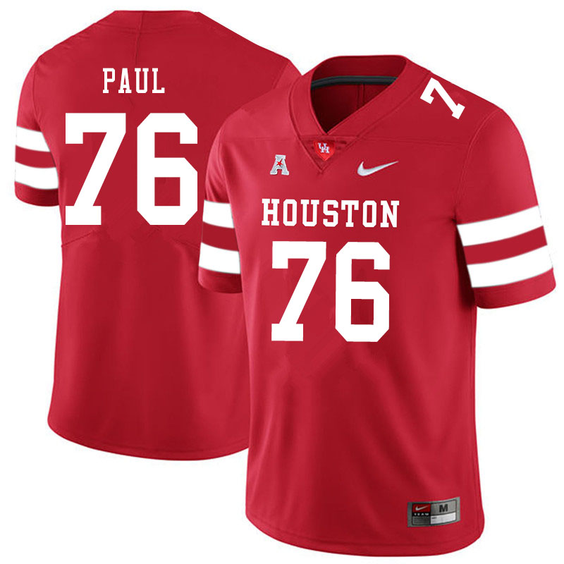Men #76 Patrick Paul Houston Cougars College Football Jerseys Sale-Red