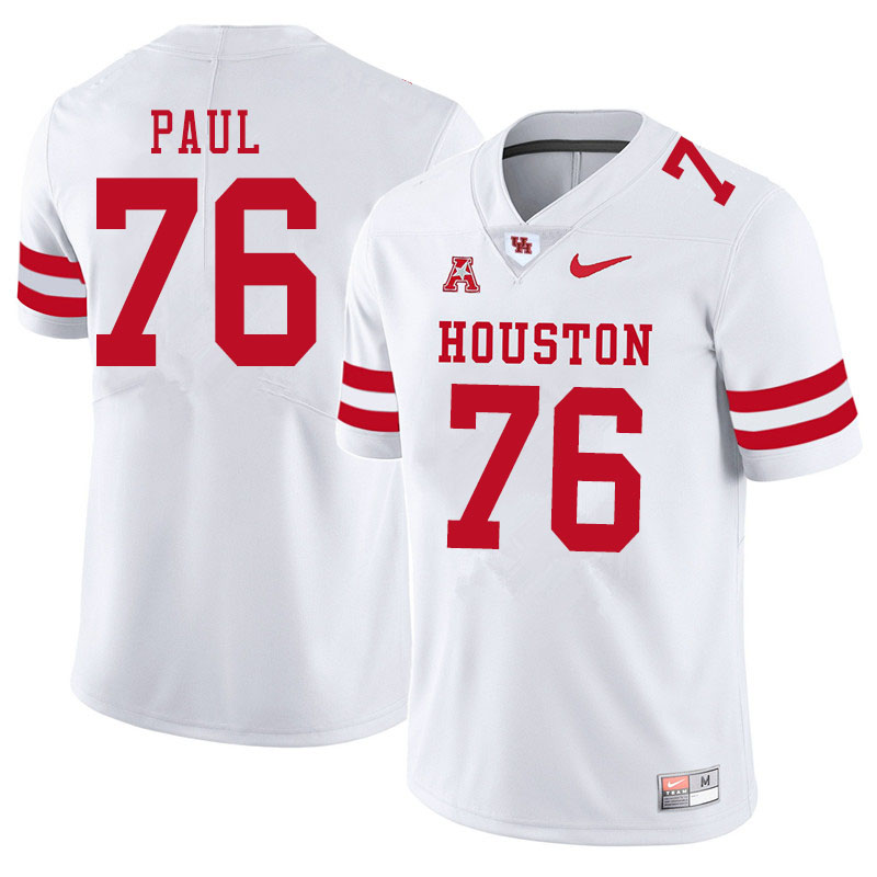 Men #76 Patrick Paul Houston Cougars College Football Jerseys Sale-White