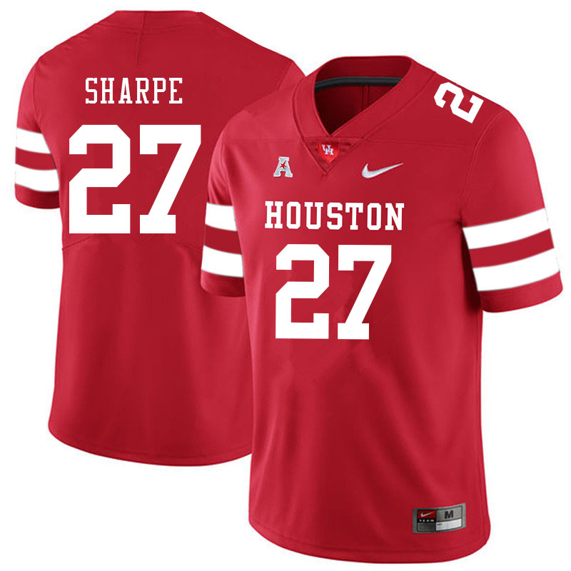 Men #27 Raylen Sharpe Houston Cougars College Football Jerseys Sale-Red