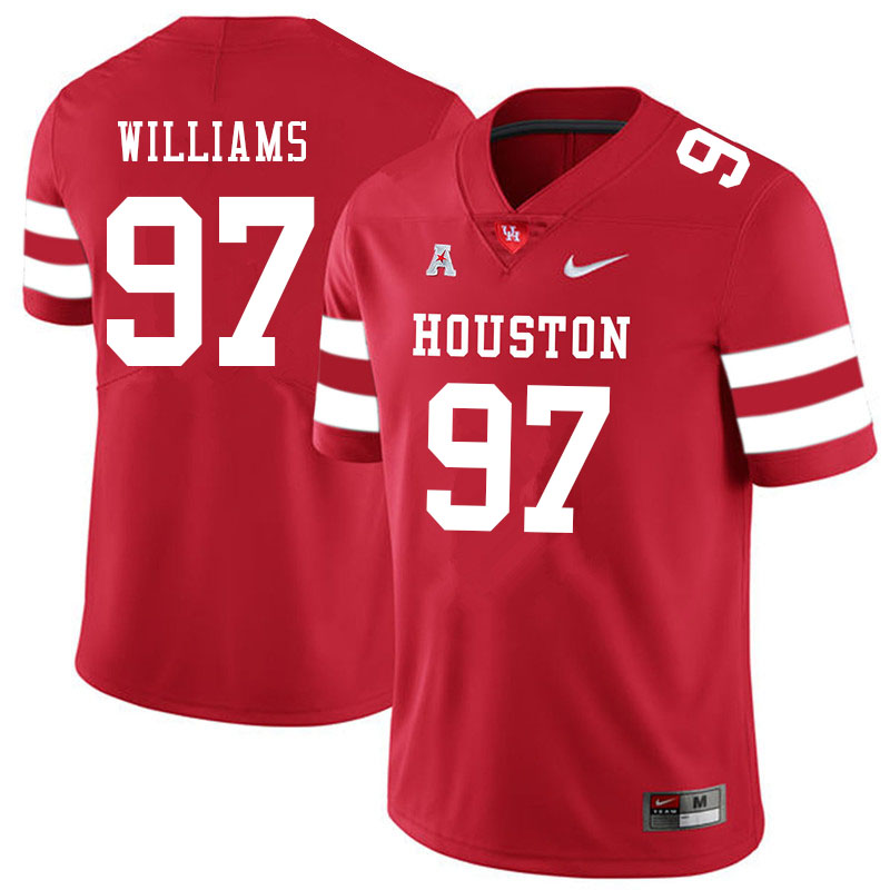Men #97 Tre Williams Houston Cougars College Football Jerseys Sale-Red