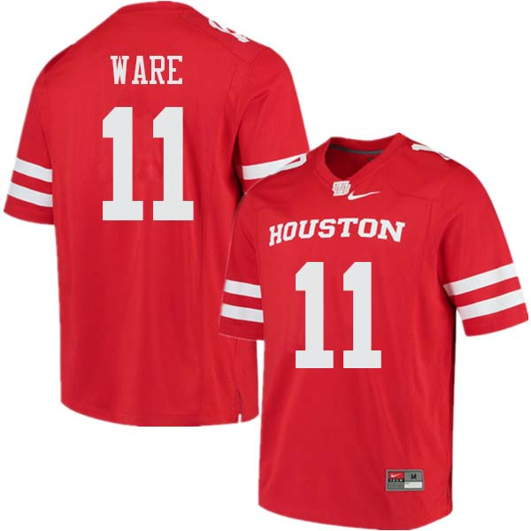 Men #11 Andre Ware Houston Cougars College Football Jerseys Sale-Red