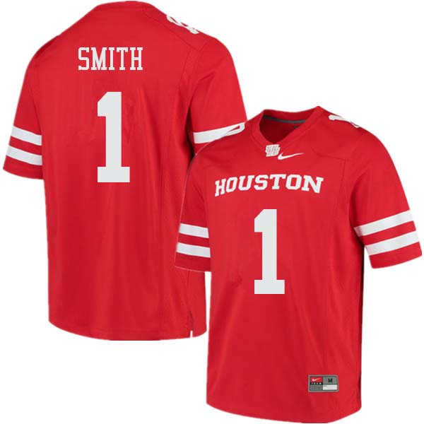 Men #1 Bryson Smith Houston Cougars College Football Jerseys Sale-Red