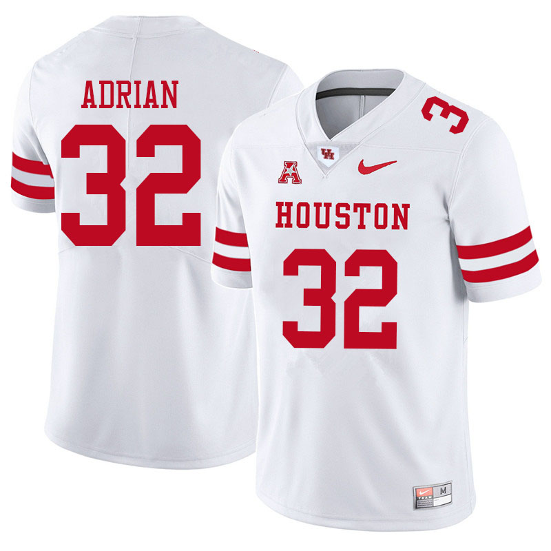 Men #32 Canen Adrian Houston Cougars College Football Jerseys Sale-White
