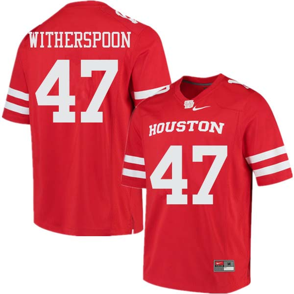 Men #47 Dalton Witherspoon Houston Cougars College Football Jerseys Sale-Red