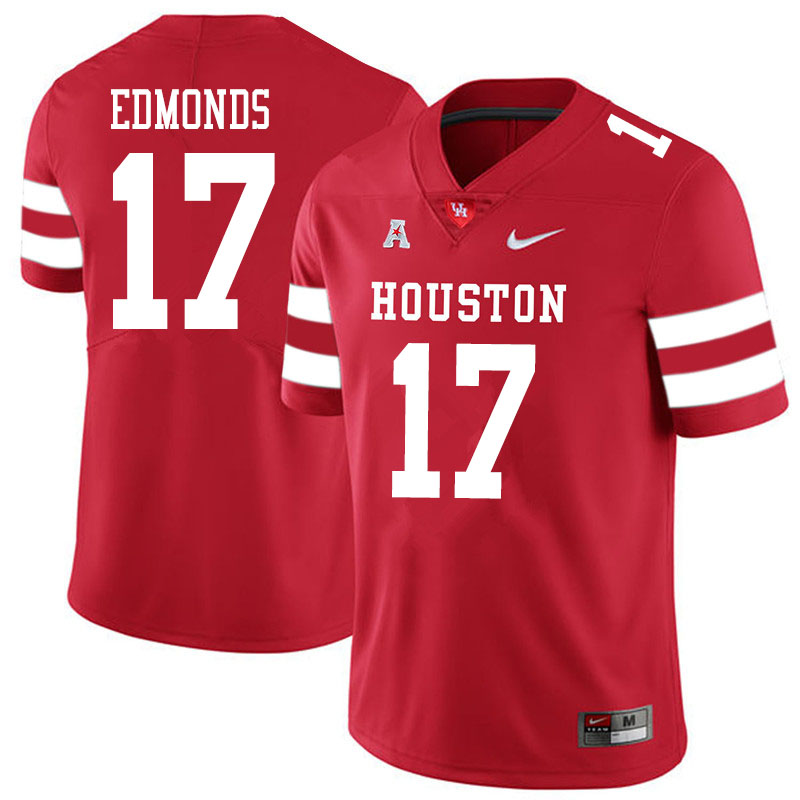 Men #17 Darius Edmonds Houston Cougars College Football Jerseys Sale-Red