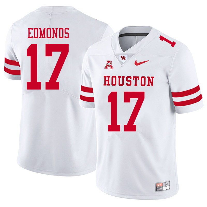 Men #17 Darius Edmonds Houston Cougars College Football Jerseys Sale-White