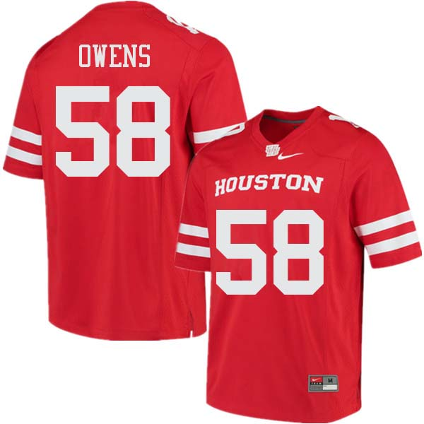 Men #58 Darrion Owens Houston Cougars College Football Jerseys Sale-Red