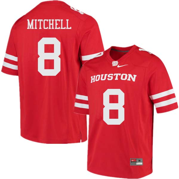 Men #8 Davion Mitchell Houston Cougars College Football Jerseys Sale-Red