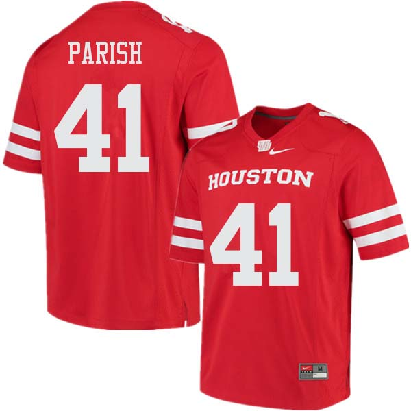 Men #41 Derek Parish Houston Cougars College Football Jerseys Sale-Red