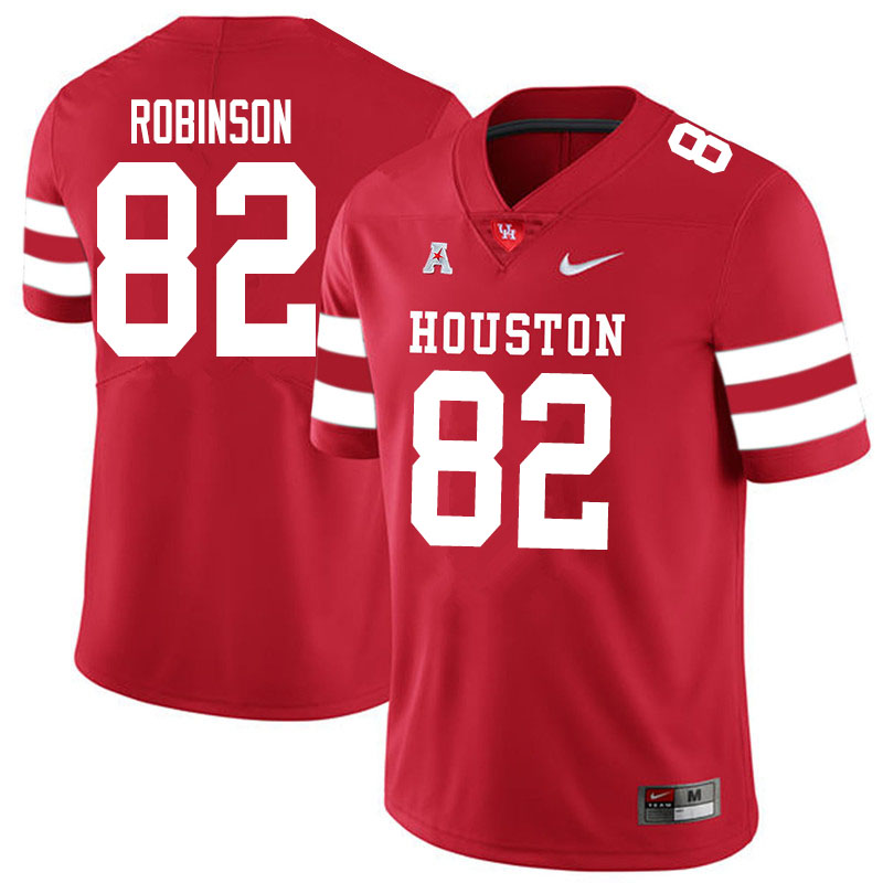 Men #83 Dylan Robinson Houston Cougars College Football Jerseys Sale-Red