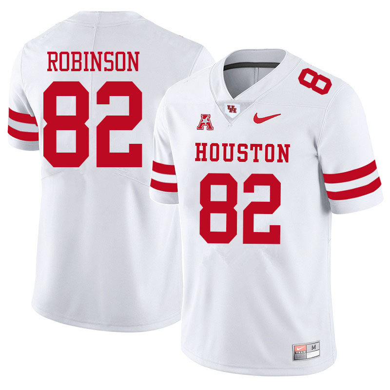 Men #82 Dylan Robinson Houston Cougars College Football Jerseys Sale-White