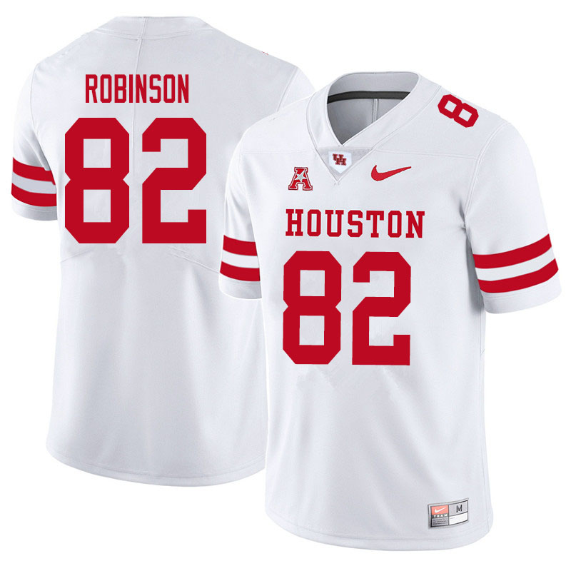 Men #83 Dylan Robinson Houston Cougars College Football Jerseys Sale-White