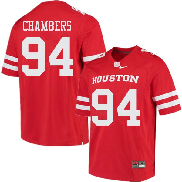 Men #94 Isaiah Chambers Houston Cougars College Football Jerseys Sale-Red