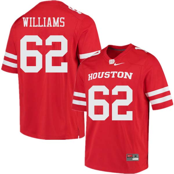 Men #62 Jarrid Williams Houston Cougars College Football Jerseys Sale-Red