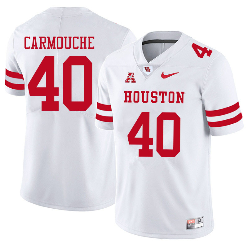 Men #40 Jordan Carmouche Houston Cougars College Football Jerseys Sale-White