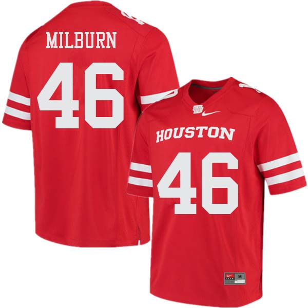 Men #46 Jordan Milburn Houston Cougars College Football Jerseys Sale-Red