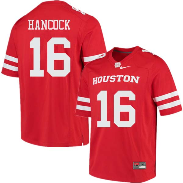 Men #16 Joshua Hancock Houston Cougars College Football Jerseys Sale-Red