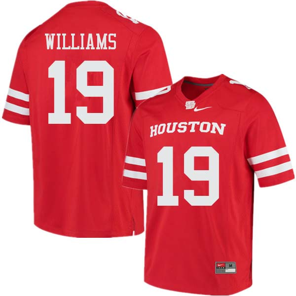 Men #19 Julon Williams Houston Cougars College Football Jerseys Sale-Red