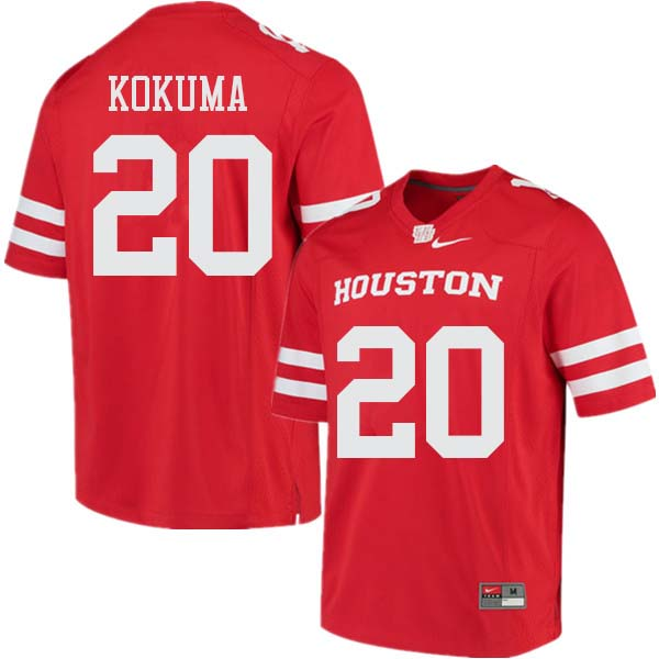 Men #20 Kaliq Kokuma Houston Cougars College Football Jerseys Sale-Red