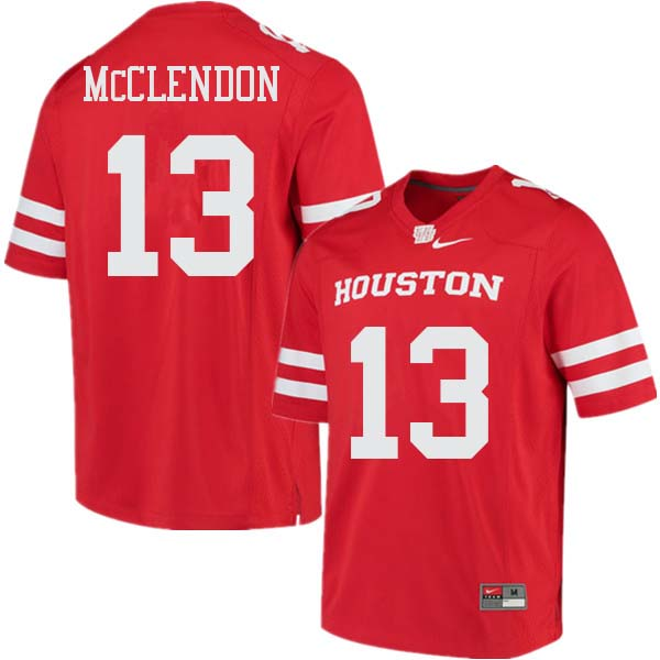 Men #13 Mason McClendon Houston Cougars College Football Jerseys Sale-Red