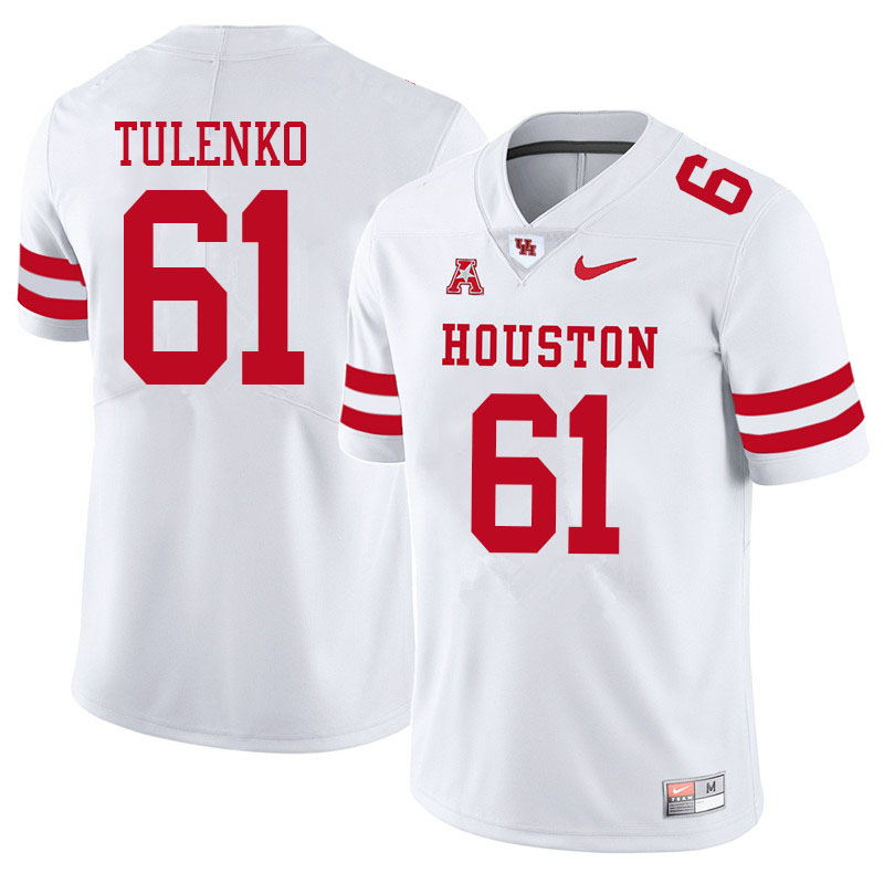 Men #61 Michael Tulenko Houston Cougars College Football Jerseys Sale-White