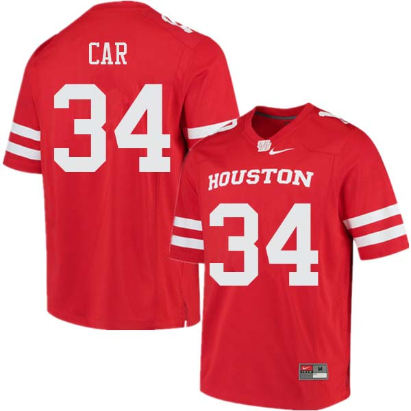 Men #34 Mulbah Car Houston Cougars College Football Jerseys Sale-Red