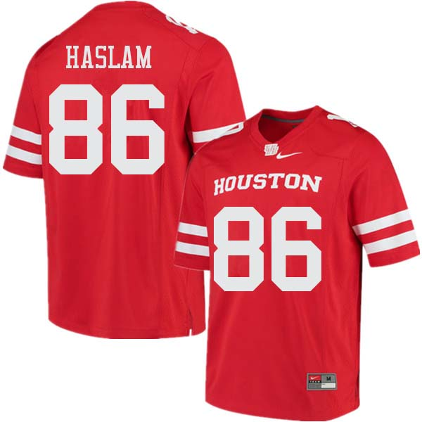 Men #86 Payton Haslam Houston Cougars College Football Jerseys Sale-Red
