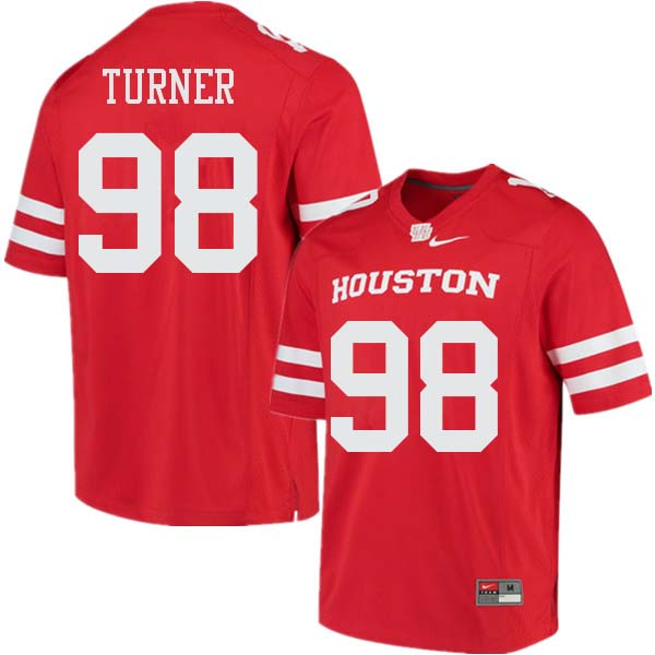 Men #98 Payton Turner Houston Cougars College Football Jerseys Sale-Red