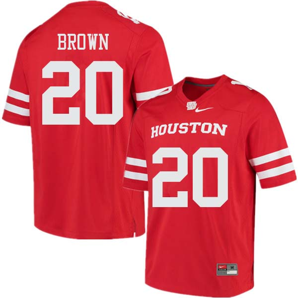 Men #20 Roman Brown Houston Cougars College Football Jerseys Sale-Red