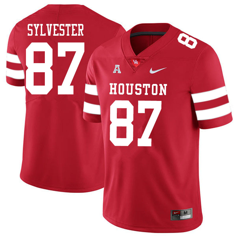 Men #87 Trevonte Sylvester Houston Cougars College Football Jerseys Sale-Red