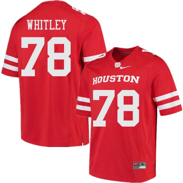 Men #78 Wilson Whitley Houston Cougars College Football Jerseys Sale-Red
