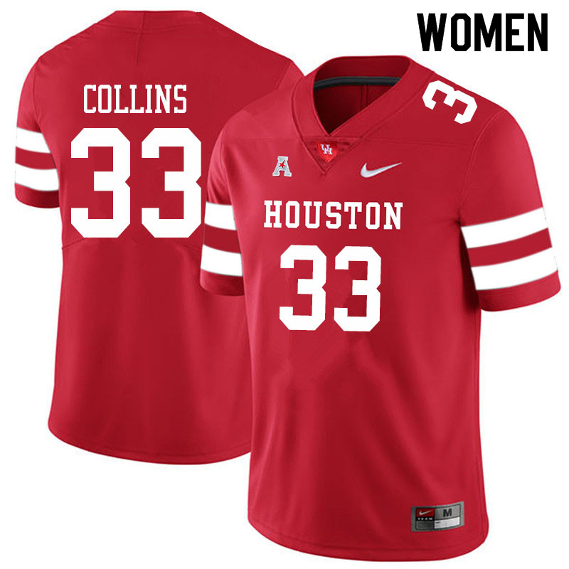Women #38 Adrian Collins Houston Cougars College Football Jerseys Sale-Red