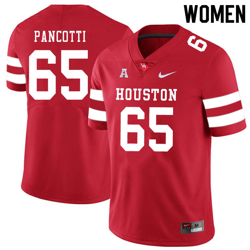 Women #65 Gio Pancotti Houston Cougars College Football Jerseys Sale-Red