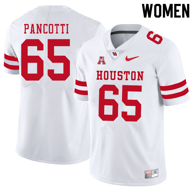 Women #65 Gio Pancotti Houston Cougars College Football Jerseys Sale-White