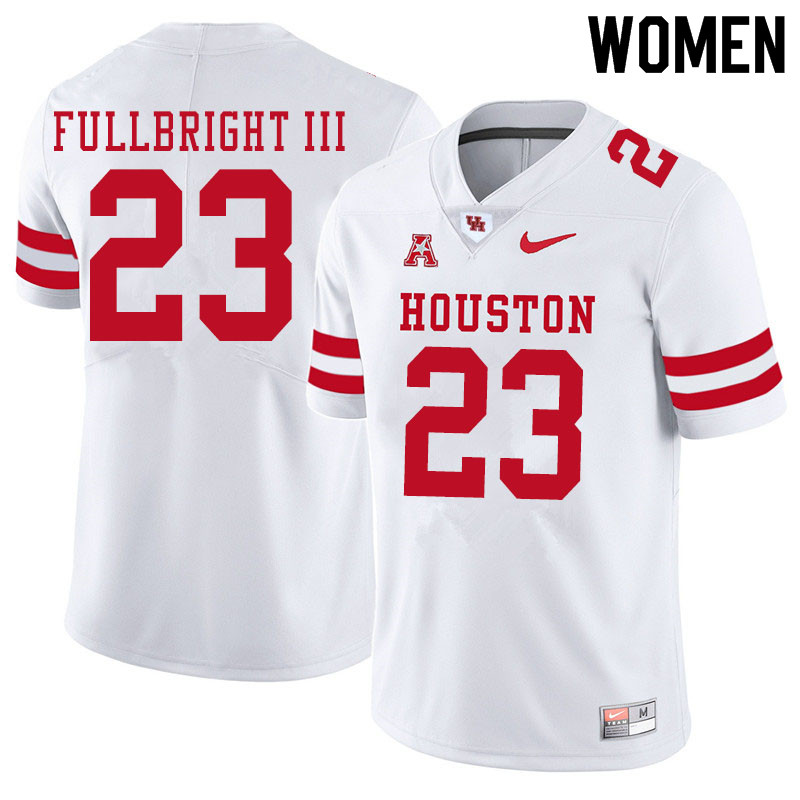Women #23 James Fullbright III Houston Cougars College Football Jerseys Sale-White