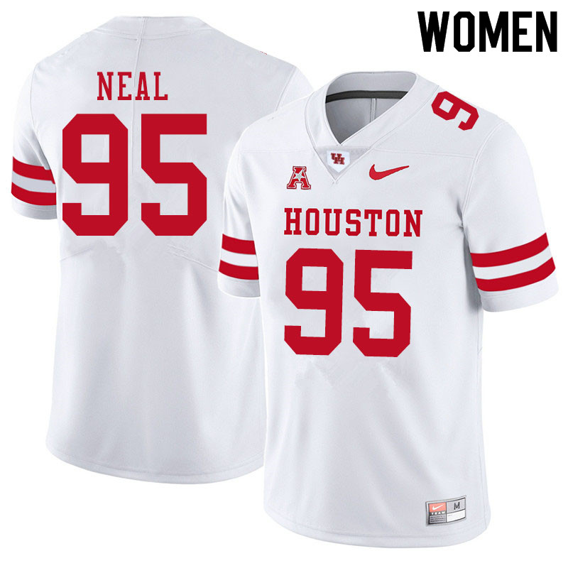 Women #95 Jamykal Neal Houston Cougars College Football Jerseys Sale-White