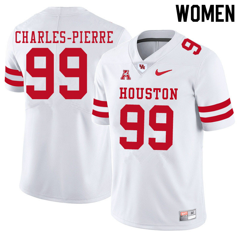 Women #99 Olivier Charles-Pierre Houston Cougars College Football Jerseys Sale-White