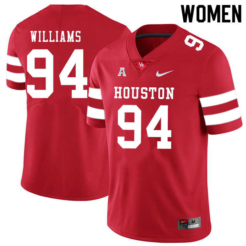 Women #94 Sedrick Williams Houston Cougars College Football Jerseys Sale-Red