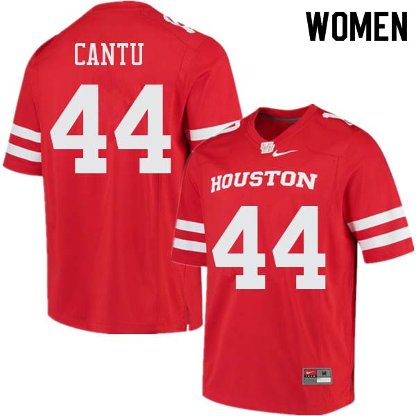 Women #44 Anthony Cantu Houston Cougars College Football Jerseys Sale-Red