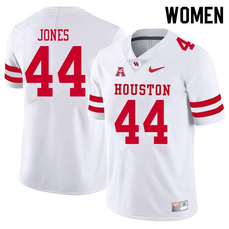 Women #44 D'Anthony Jones Houston Cougars College Football Jerseys Sale-White
