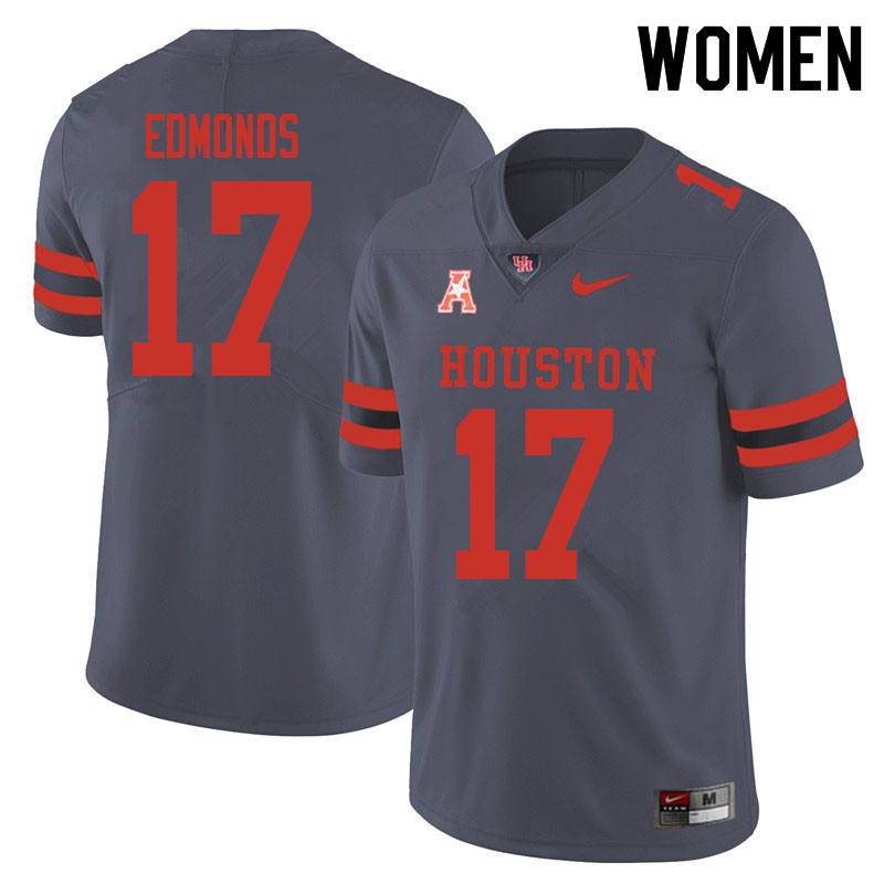 Women #17 Darius Edmonds Houston Cougars College Football Jerseys Sale-Gray