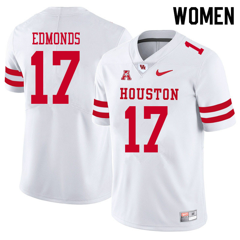 Women #17 Darius Edmonds Houston Cougars College Football Jerseys Sale-White