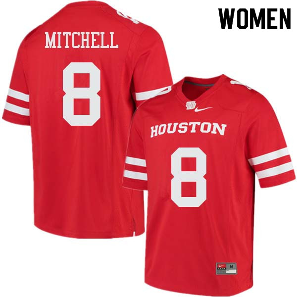 Women #8 Davion Mitchell Houston Cougars College Football Jerseys Sale-Red
