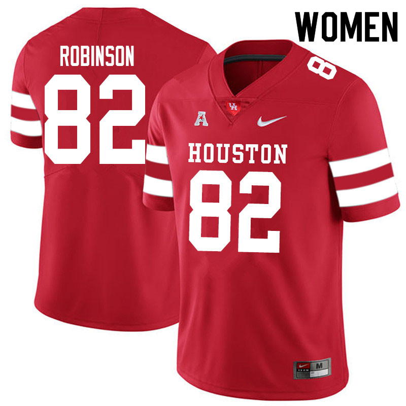 Women #83 Dylan Robinson Houston Cougars College Football Jerseys Sale-Red