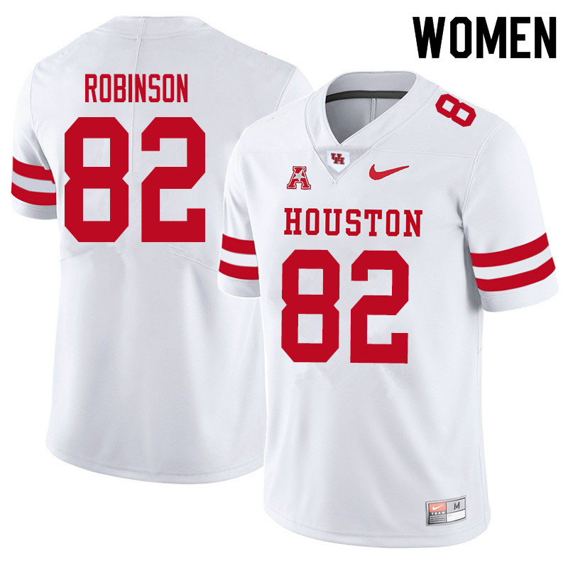 Women #83 Dylan Robinson Houston Cougars College Football Jerseys Sale-White