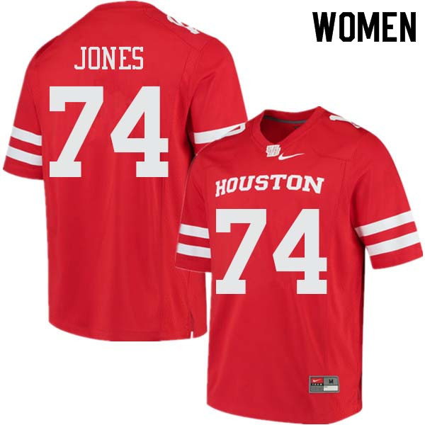 Women #74 Josh Jones Houston Cougars College Football Jerseys Sale-Red