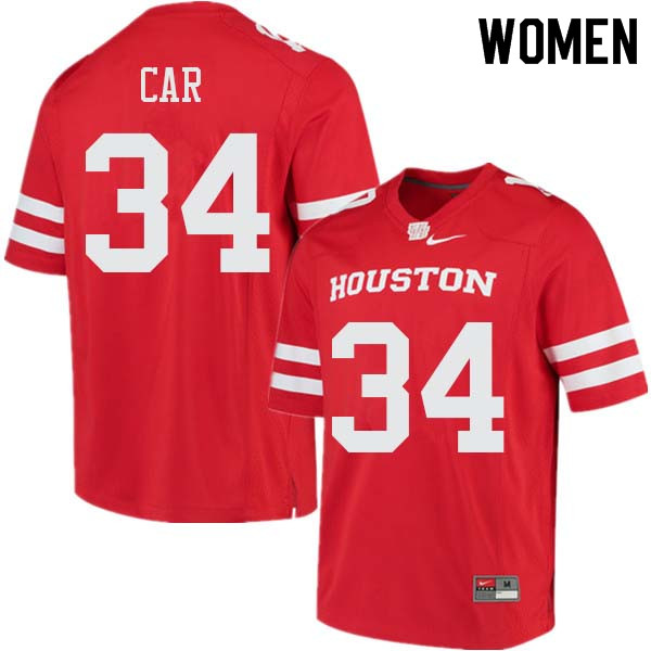 Women #34 Mulbah Car Houston Cougars College Football Jerseys Sale-Red